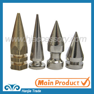 Wholesale Brass Cone Screw On Punk Spikes for Leather