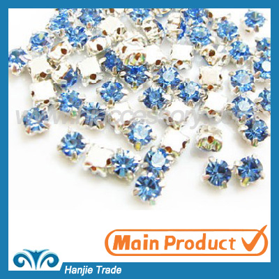 Sew on Crystal Glass Rhinestone Flatback