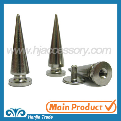 Bulk Metal Punk Spikes Tree Screw Back in Silver Color