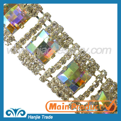 New fashion crystal rhinestone trimming for clothing accessories