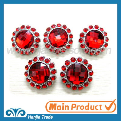 hot sale acrylic rhinestone button