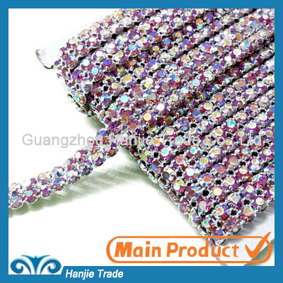 Double Rows Ligth Amethyst AB Rhinestone Banding in Wholesale