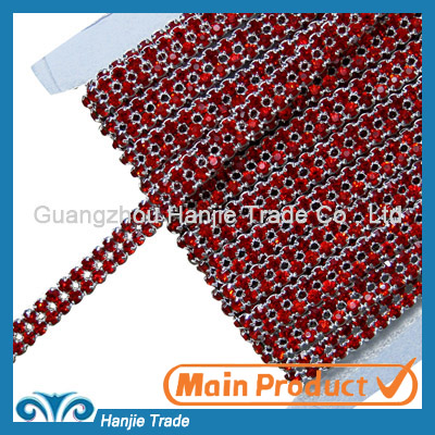 Double Rows Hyacinth Rhinestone Banding in Wholesale