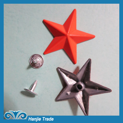 Wholesale 29mm Star Metal Spike Stud Rivet For the Jeans,Shoes
