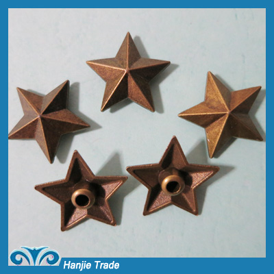Wholesale 18mm Star Decorative Clothing Rivets Jeans Rivets