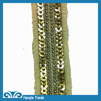 Hot-sell Lace Fabric With Seed Beads With Shinning Sequins