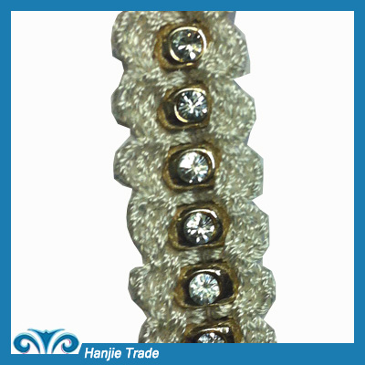 Fashion Metal Bead Lace For Garment