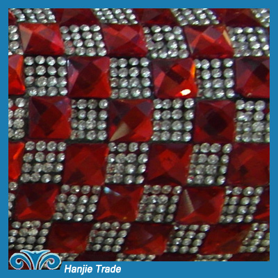 Hot Sale Crystal Diamante Mesh Trim