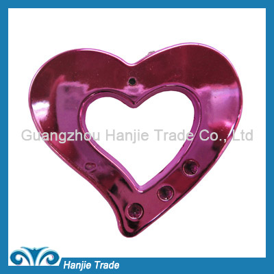 Wholesale heart shape plastic buckles for decoration