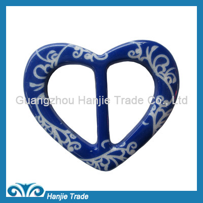 Wholesale blue heart shape plastic buckles