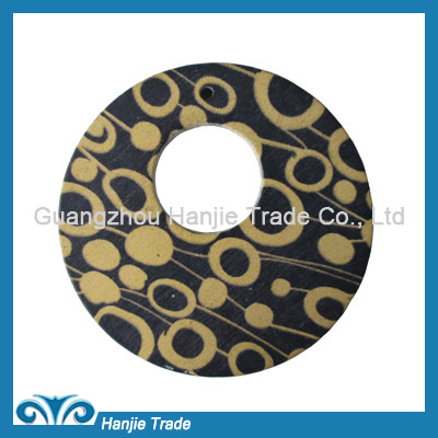 Wholesale round wooden o-rings buckles for decoration